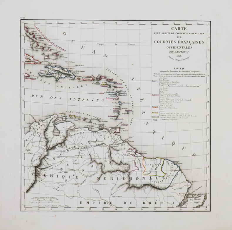 Carte pour servir de tableau d'assemblage aux colonies françaises occidentales.. PERROT (Aristide Michel).