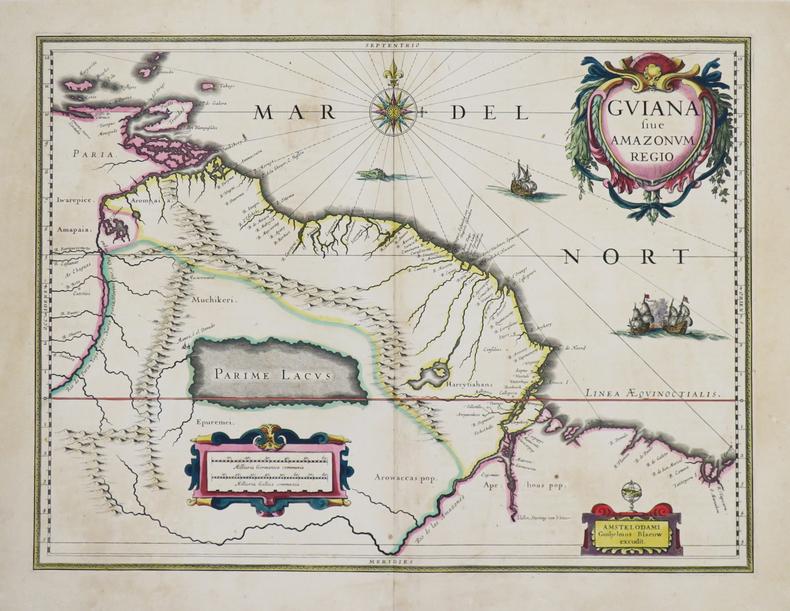 [GUYANE] Guiana sive Amazonum regio.. BLAEU (Johannes).