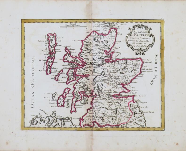[ÉCOSSE] Royaume d'Écosse divisé en provinces.. NOLIN (Jean-Baptiste).