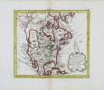 Amérique septentrionale avec les nouvelles découvertes fait au nord, par les Russes et les Anglois.. NOLIN (Jean-Baptiste).