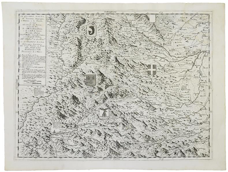 Le Quattro Valli, di Lucerna, Angrogna, S. Martino, e La Perosa.. CORONELLI (Vincenzo).