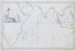 [OCÉAN INDIEN] Carte réduite de l'Océan Oriental ou mer des Indes.. BELLIN (Jacques-Nicolas).