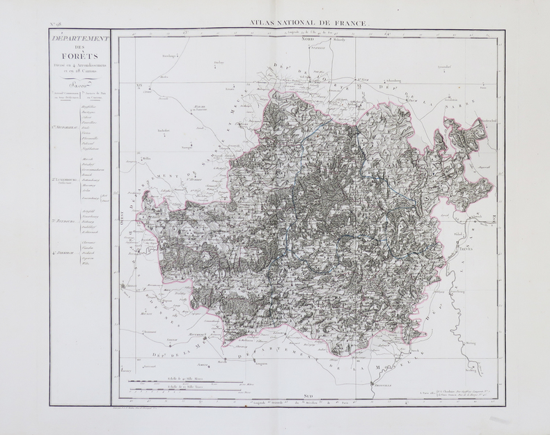 [LUXEMBOURG/NAPOLÉON] Département des Forêts.. CHANLAIRE (Pierre-Grégoire) & MENTELLE (Edmé).