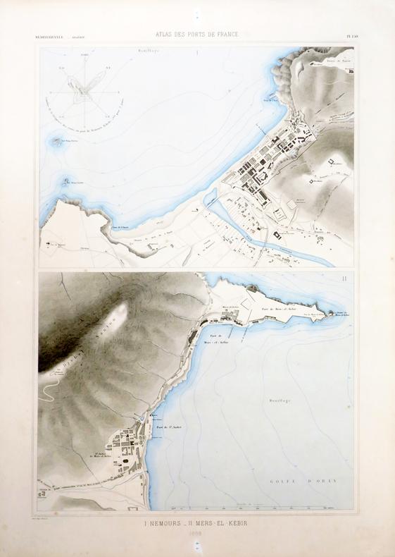 [ALGÉRIE/GHAZAOUET & MERS-EL-KÉBIR] I. Nemours - II. Mers-El-Kébir.. ATLAS des PORTS de FRANCE.