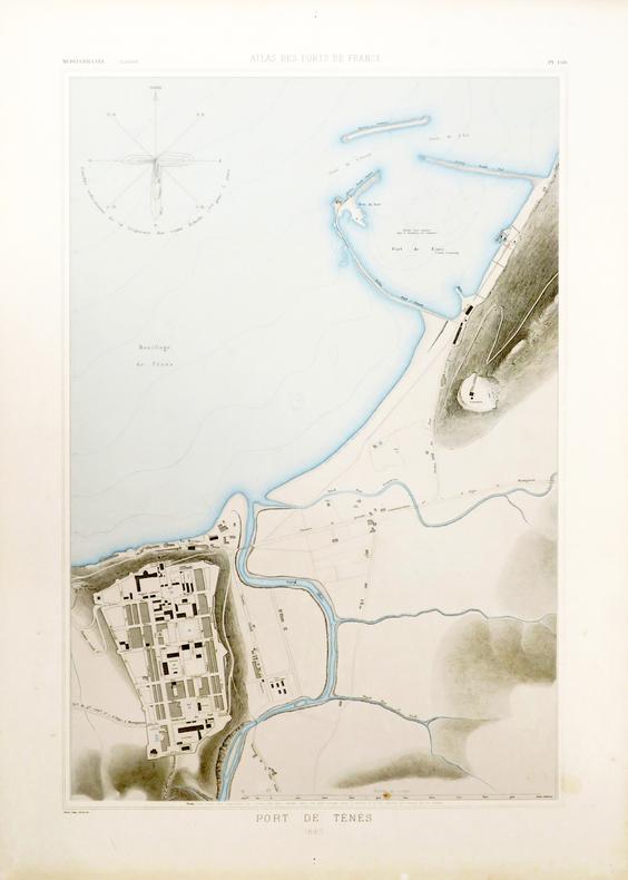[ALGÉRIE/TÉNÈS] Port de Ténès.. ATLAS des PORTS de FRANCE.