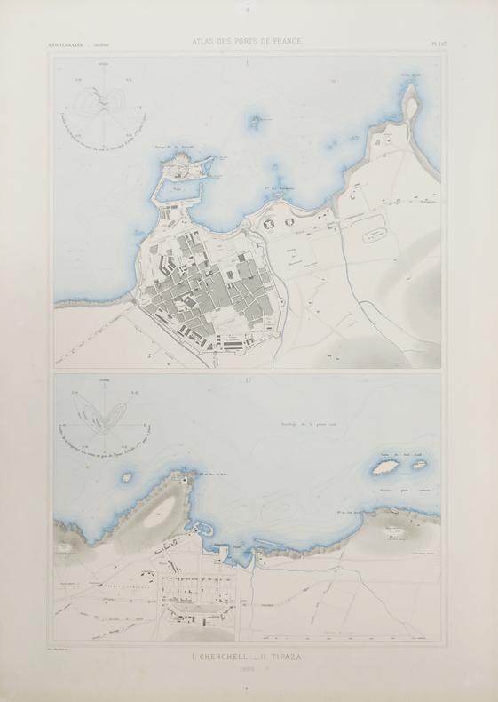[ALGÉRIE/CHERCHELL & TIPAZA] I. Cherchell - II. Tipaza.. ATLAS des PORTS de FRANCE.