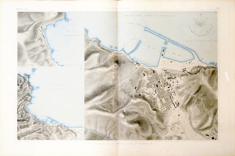 [ALGÉRIE/STORA & SKIKDA] I. Stora - II. Philippeville - III. Carte de la baie de Philippeville.. ATLAS des PORTS de FRANCE.