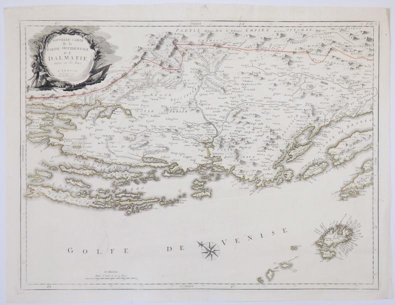 [CROATIE] Nouvelle carte de la partie occidentale de Dalmatie - Nouvelle carte de la partie orientale de Dalmatie.. SANTINI (Paolo).