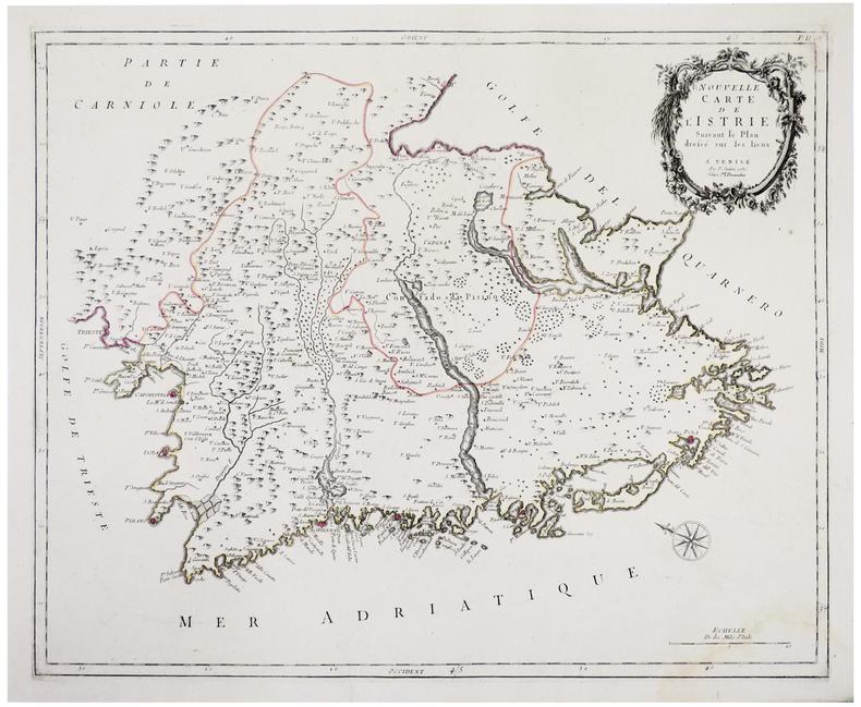 [CROATIE/ISTRIE] Nouvelle carte de l'Istrie.. SANTINI (Paolo).