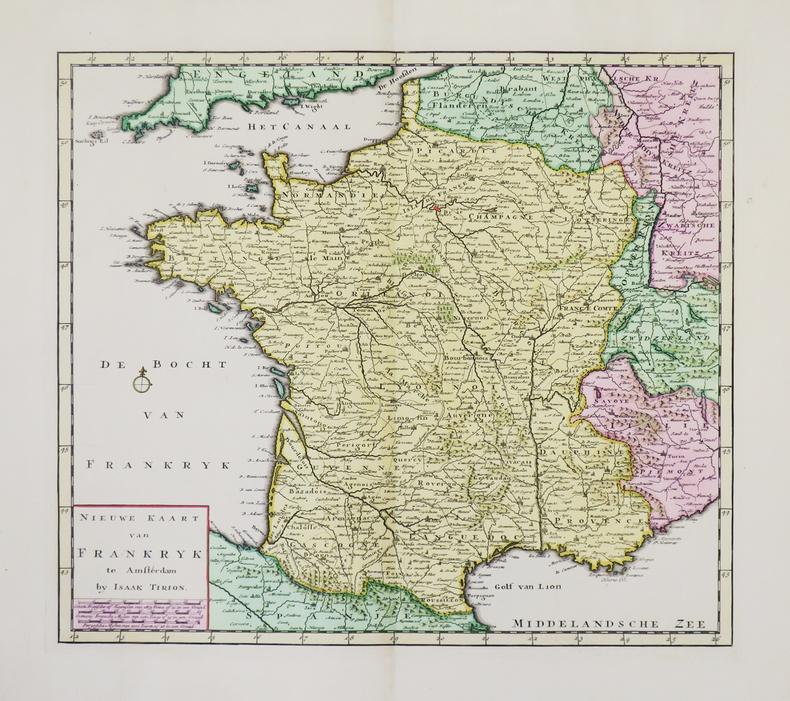 Nieuwe kaart van Frankryk.. TIRION (Isaak).
