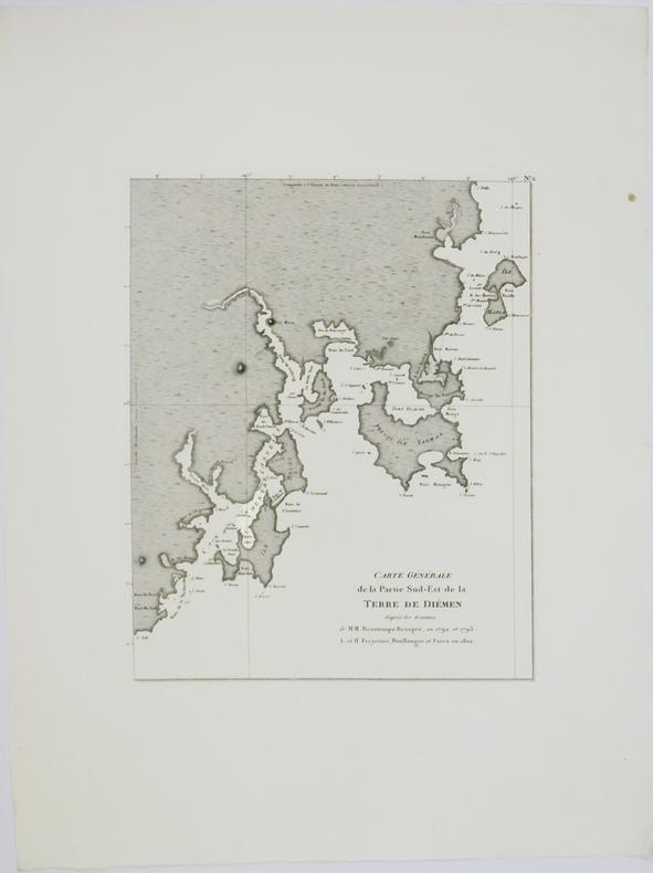 [TASMANIE] Carte générale de la partie sud-est de la terre de Diémen.. FREYCINET (Louis-Claude Desaulses de).