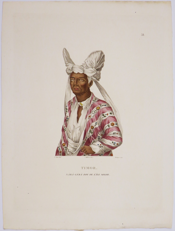 [INDONÉSIE/TIMOR] Timor. Naba-Léba roi de l'île Solor.. FREYCINET (Louis-Claude Desaulses de).