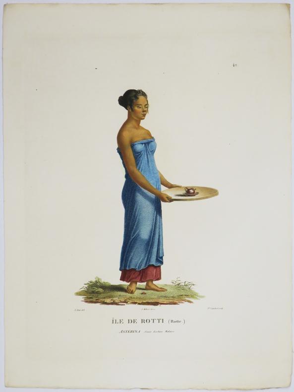 [INDONÉSIE/ÎLE de ROTE] Île de Rotti (Rotte). Astérina jeune esclave malaise.. FREYCINET (Louis-Claude Desaulses de).