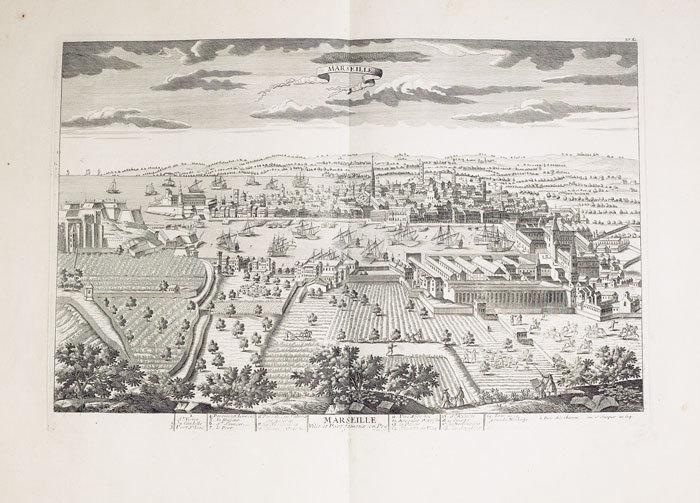 Marseille, ville et port fameux en Provence.. CHÉREAU (Jacques);