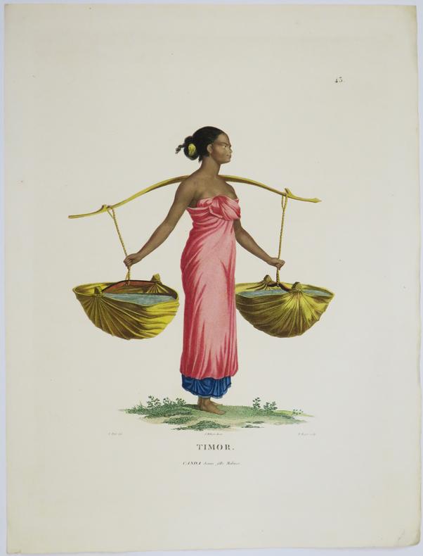 [INDONÉSIE/TIMOR] Timor. Canda jeune fille malaise.. FREYCINET (Louis-Claude Desaulses de).