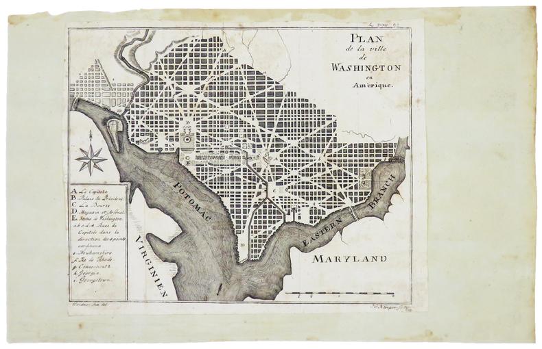 [WASHINGTON] Plan de la ville de Washington en Amérique.. KLINGER (Johann Georg).