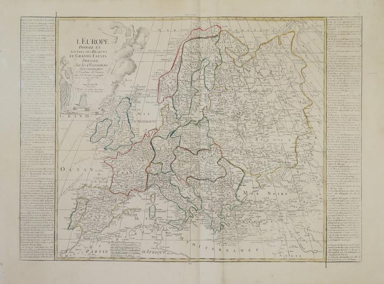 L'Europe divisée en touttes ses régions et grands estats.. NOLIN (Jean-Baptiste).
