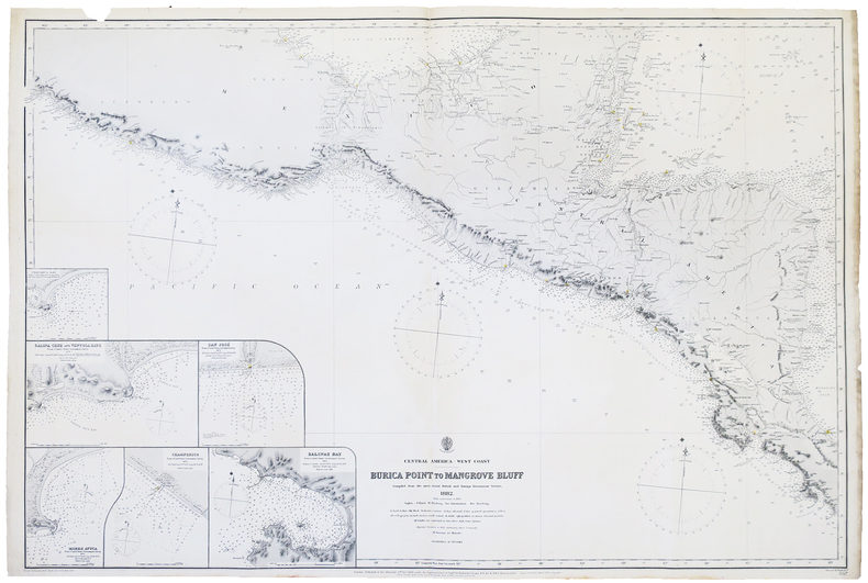 [AMÉRIQUE CENTRALE] Central America - West coast. Burica Point to Mangrove Bluff.. BRITISH ADMIRALTY.