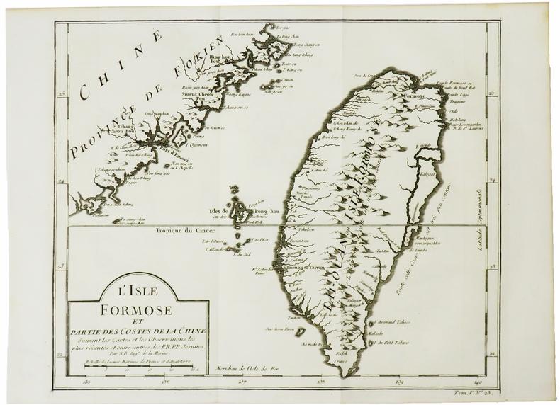 [TAÏWAN] L'Isle Formose et partie des costes de la Chine.. BELLIN (Jacques-Nicolas).