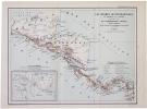 [AMÉRIQUE CENTRALE] Les isthmes interocéaniques d'après la carte publiée par le Commodore Ammen. . AMMEN (Daniel).