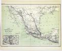 [MEXIQUE/CHEMINS de FER] Carte des chemins de fer du Mexique. . HAUSERMANN (Rémi).