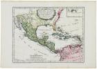 [MEXIQUE] Nouvelle Espagne, Nouveau Mexique, Isles Antilles.. ROBERT de VAUGONDY (Didier).