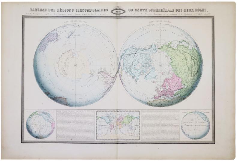 [PÔLES] Tableau des régions circumpolaires ou carte sphéroïdale des deux pôles.. GARNIER (F.A.).