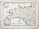 [BRETAGNE] Duché, et gouvernement de Bretagne.. SANSON d'ABBEVILLE (Nicolas);.