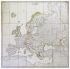 Carte d'Europe où sont tracées les limites des empires, royaumes, et états souverains, d'après les derniers traités de Paix.. LAPIE (Pierre, ...