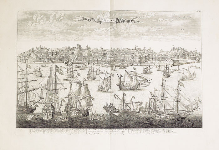 Lisbone ville capitale du royaume de Portugal située à l'embouchure du Tage.. CHÉREAU (Jacques);