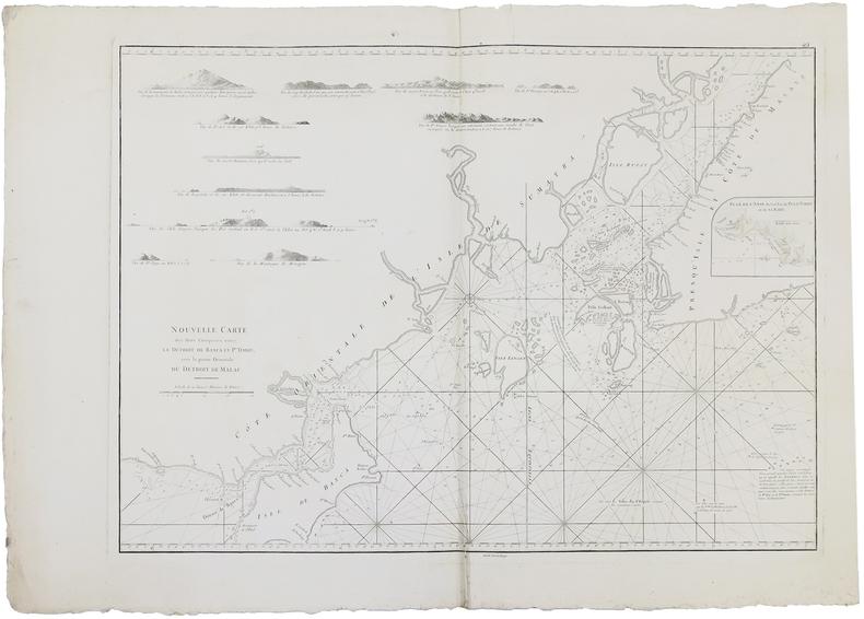 [SINGAPOUR] Nouvelle carte des mers comprises entre le détroit de Banca et P.o Timon, avec la partie orientale du détroit de Malac.. APRES de ...