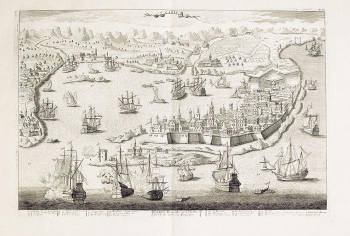 [CADIX] Cadis évesché et célèbre port de mer en Espagne.. CHÉREAU (Jacques);