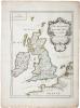 Carte des Isles Britaniques où sont les Royaumes d'Angleterre, et d'Escosse, que nous appellons Grande Bretagne et celui d'Irlande avecque les isles ...