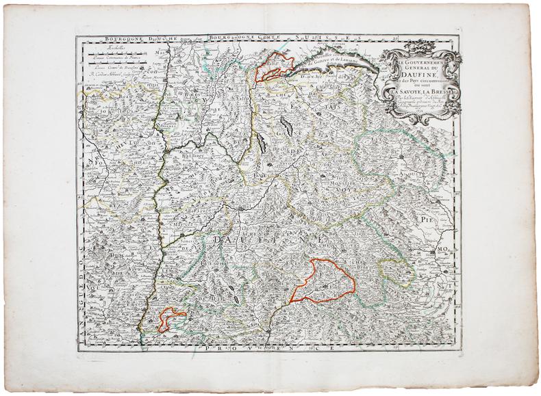 [DAUPHINÉ] Le Gouvernement général du Daufiné, et des pays circomvoisins où sont la Savoye, la Bresse &c.. SANSON d'ABBEVILLE (Nicolas).