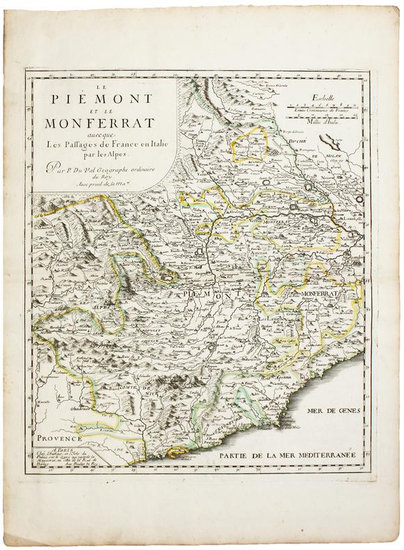 Le Piémont et le Monferrat avecque les passages de France en Italie par les Alpes.. DUVAL (Pierre).