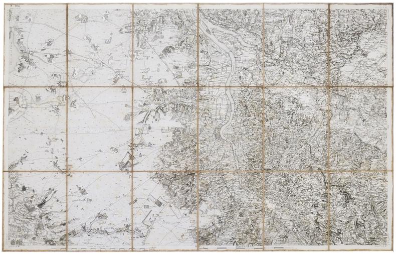 [BORDEAUX] Carte de Cassini. Feuille n°164/104.. CASSINI de THURY (César-François).
