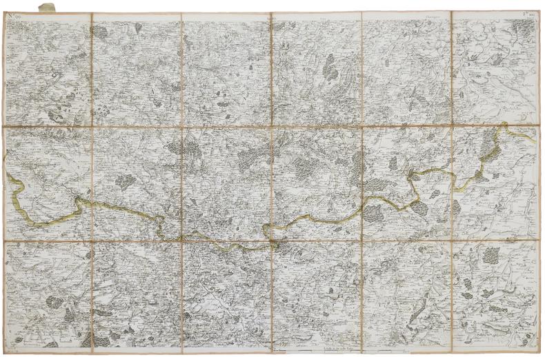 [MORTAGNE-sur-SÈVRE] Carte de Cassini. Feuille n°102/99.. CASSINI de THURY (César-François).