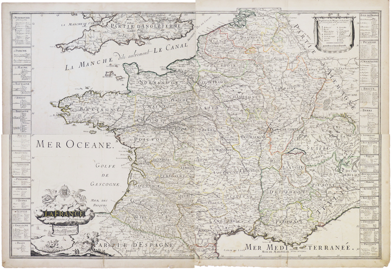 La France avec ses anciennes, et ses nouvelles bornes.. DUVAL (Pierre).