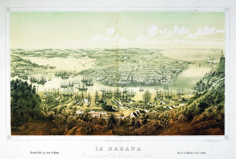 La Habana. Panorama general de la ciudad y su bahia.. LAPLANTE (Edouard).