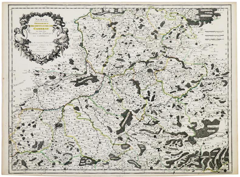 [CAMBRAI] Nervii. Diocèse de l'archevesché de Cambray : où sont les comté de Haynaut, le Cambrésis .. SANSON d'ABBEVILLE (Nicolas).