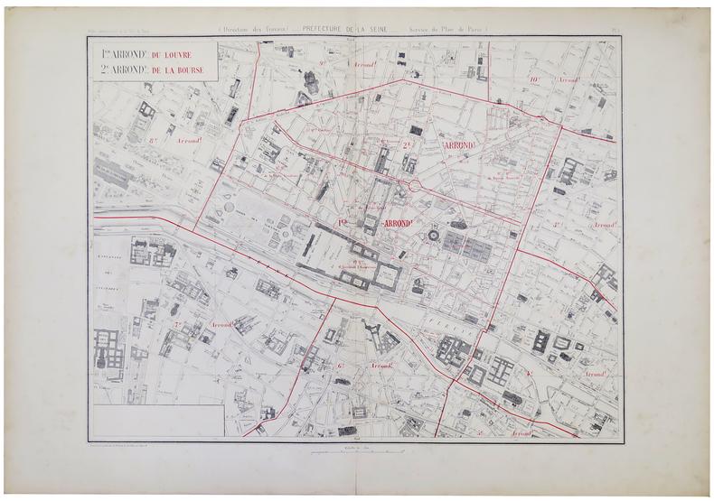 [PARIS 1er et 2ème arrondissements] 1.er arrond.t du Louvre - 2.e arrond.t de la Bourse.. ALPHAND (Jean-Charles Adolphe).