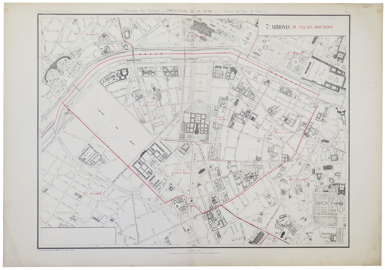 [PARIS 7ème arrondissement] 7.e arrond.t du Palais Bourbon.. ALPHAND (Jean-Charles Adolphe).