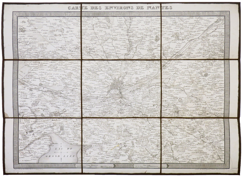 [NANTES] Carte des environs de Nantes.. TARDIEU (Pierre François).