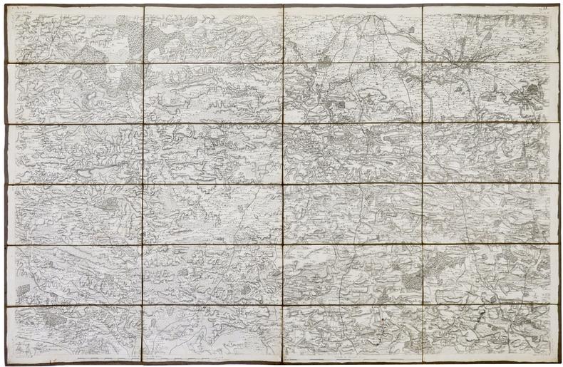 [RENNES] Carte de Cassini. Feuille n°9/129.. CASSINI de THURY (César-François).