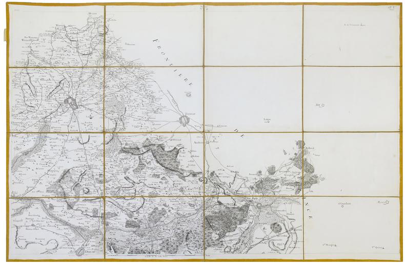 [LILLE] Carte de Cassini. Feuille n°18/41.. CASSINI de THURY (César-François).