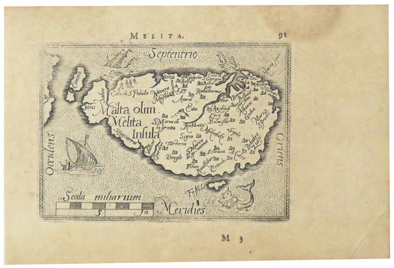 [MALTE] Melita.. ORTELIUS (Abraham).