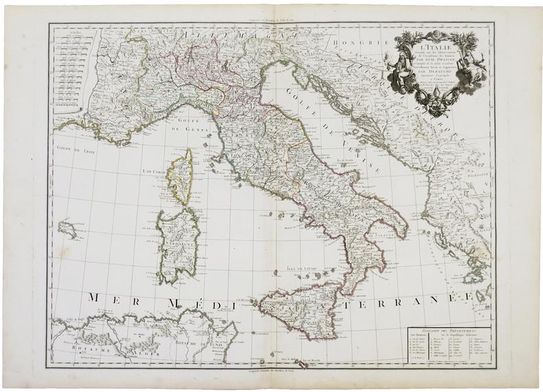 L'Italie dressée sur les observations de l'Académie des Sciences.. L'ISLE (Guillaume de).
