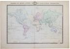 Tableau du monde actuel ou planisphère terrestre.. GARNIER (F.A.).