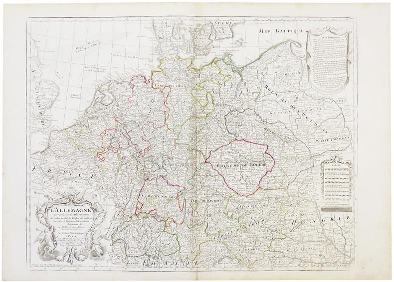 L'Allemagne dressée sur les observations de Tycho-Brahé, de Kepler, de Snellius.. L'ISLE (Guillaume de).