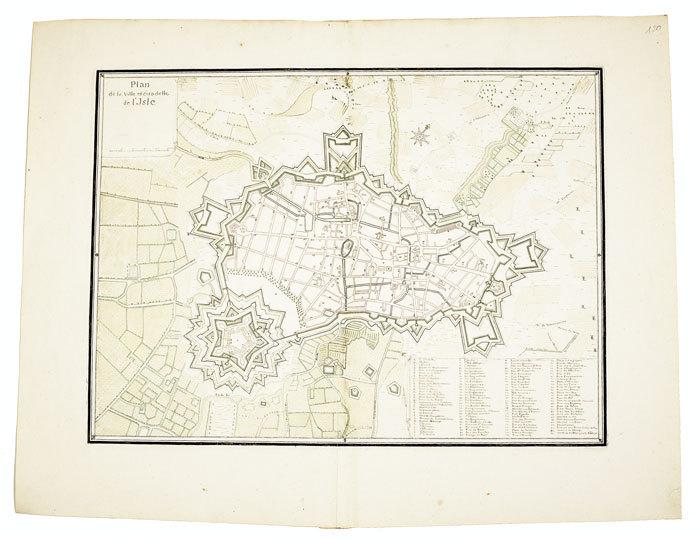 Plan de la ville et citadelle de l'Isle.. LILLE. MANUSCRIT.